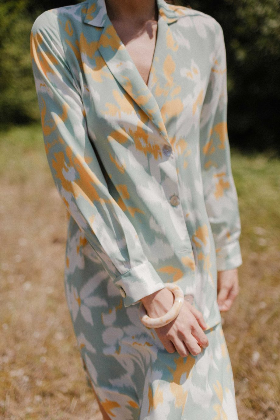 Abstract mint dress or coat